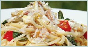 Crab Linguine Lemon Basil Seafood Dish