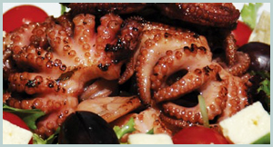 Freshly Cooked Octopus Salad
